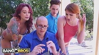 BANGBROS - Awesome 4th Of July Threesome With Monique Alexander, Adria Rae &amp_ Juan El Caballo Loco
