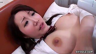 Japanese schoolgirl Shizuku Morino got fucked instead o