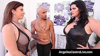 Cuban BBW Angelina Castro & King Noir Make Sara Jay Submit!